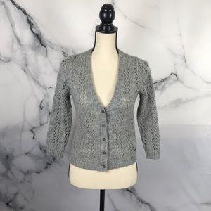 Abercrombie wool cardigan 3/4 sleeves